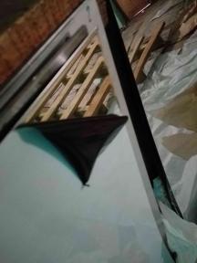 Лист нержавеющий 0,8 мм 1х2м BA+PVC 430 зеркальный