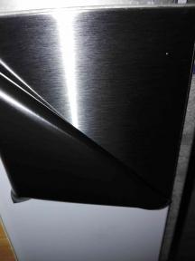 Лист нержавеющий 0,4 мм 1х2 4N+PVC 201 шлифованный