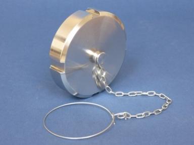 Гайка глухая с цепочкой и уплотнением DN125  AISI 304/304L