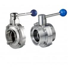 Клапан дисковый S-S DN125  AISI 304/304L, VMQ  (Silicone)